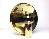 Midcentury Brass Sconce with Spherical Reflector / by COLSETH / Norway 60s