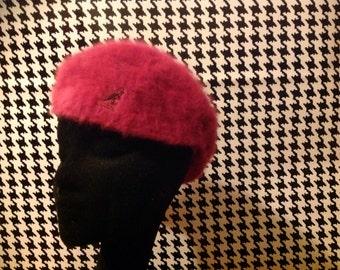 Vintage kangol hat pink angora