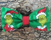 Bow Tie Collar Attachment & Accessory for Dogs and Cats / The GRINCH Stole Christmas / Dr. Seuss Bow Tie
