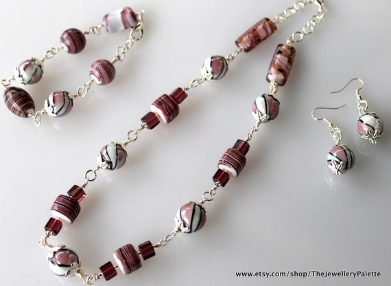 Candy Cane Jewelry Mauve Candy Cane Jewelry Set