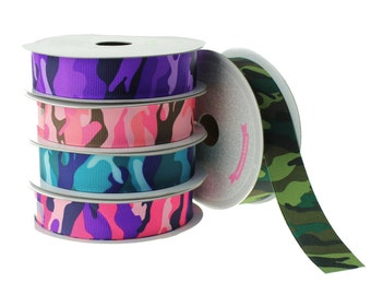 Grosgrain Camouflage Ribbon, 7/8-inch, 10-yard - CLOSEOUT