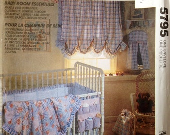 McCall's Home Decorating 5795 UNCUT Baby Room Essentials