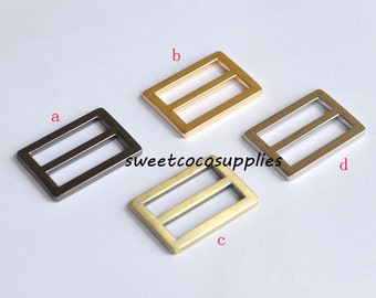 1 inch (25mm inner size) Nickel alloying rectangle sliders strap adjuster.10 Pcs