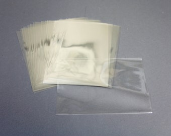A-6 size card plastic sleeve cover with no flap for A-6 card and envelope, clear plastic sleeve keeps cards clean