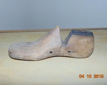 Vintage Wooden Childs Shoe Last Form