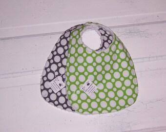 Stunning  Gender Neutral Polka Dot Baby Bib Set !  FREE SHIPPING !!!!