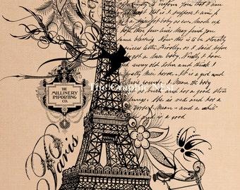 Paris collage. Digital download