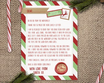 Letter From Santa - Instant Download File - SALE 50% OFF