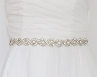 bridal sash belt, wedding sash belt, bridal belt, wedding belt, bridal sash, thin wedding belt, skinny sash belt, jeweled belt,