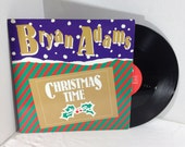 Bryan Adams vintage vinyl record - Christmas Time Maxi Single || 80's Pop Rock || Holiday
