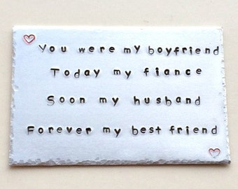 Personalised Bespoke Hand Stamped Aluminium Wallet Insert Card