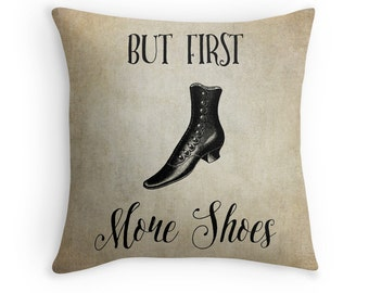 Shoe Art, Fashion Art, Fashion Decor, Shoe Decor, Fashion Cushion, Fashion Throw Pillow, Vintage Cushion, Antique Shoes, Victorian Decor