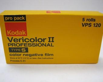 Vintage 120 ProPack Kodak VPS Vericolor II Type S ISO 100 Medium Format Film - Expired Film Day