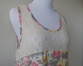 Floral Lace Vest One Size