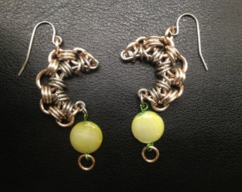 Chain cresent earrings