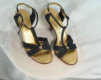 Denim Chanel Sandals// Designer Sandals// Adorable Summer Sandal