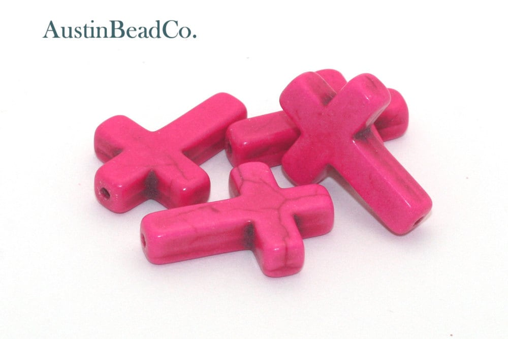 Top to bottom drilled cross bead