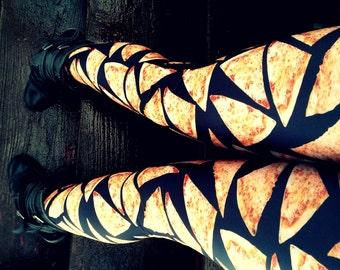 Cheese Pizza Leggings pants lycra