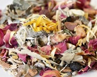 Heart Organic Loose Leaf Tea ~ Herbal Tea ~ Flower Tea ~ Rose Tea ~ Organic Tea ~ Health and Wellness
