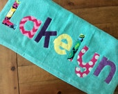 Personalized Applique Towel with Child's Name - perfect for any age