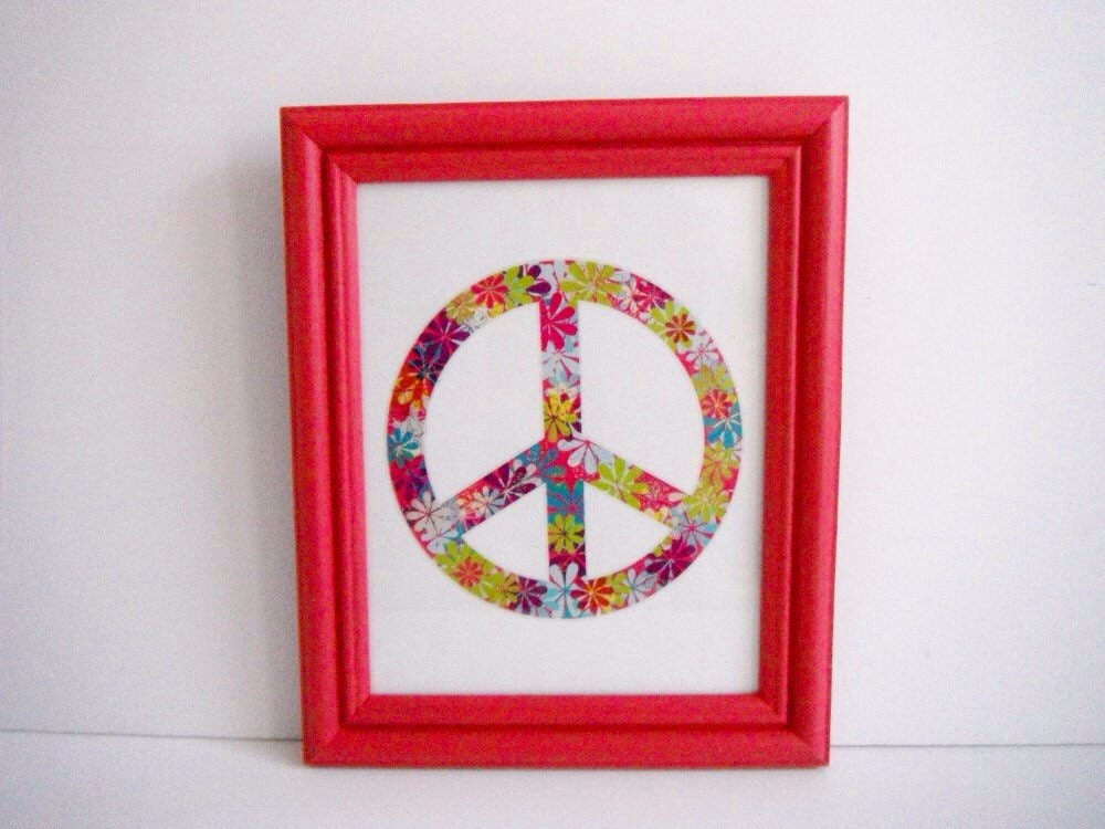 Peace Sign Wall Art Pink 8 X 10 Picture Frames Girl 39 S