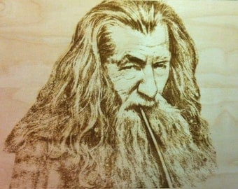 Gandalf - Lord of the Rings Engraved Wood Plank - Lord of the Rings Decor - Lord of the Rings Gift