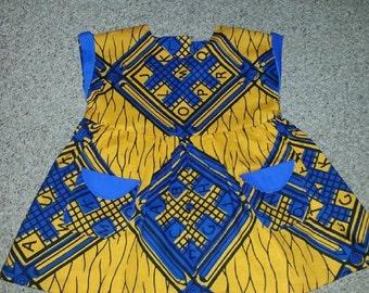 Girls Ankara/African Wax Print summer dress and matching Bolero (ages 3-12 month )