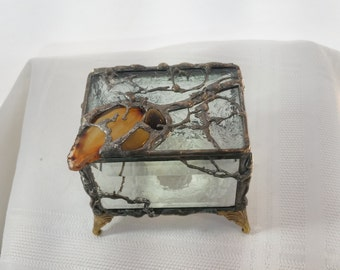 Beautiful Leaded and Beveled Stained Glass Box