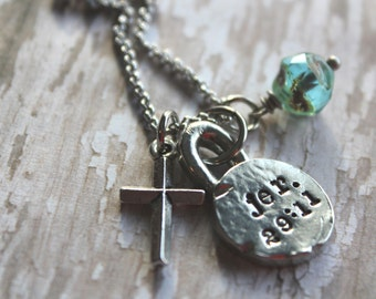 Jeremiah 29:11 Necklace, Scripture Necklace, Jer 29 11, Personalized Hand Stamped Necklace, Confirmation Gift, Custom Scripture Necklace