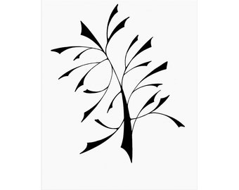 A TREE (pen and ink on paper), open edition print