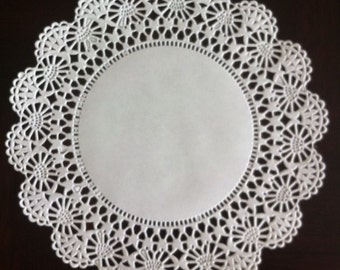 "100 ct. 6"" White Cambridge Paper Lace Doilies Wedding  Party Decor Gift Wrap"
