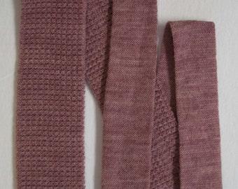 Men's vintage square bottom rockabilly knit neck tie