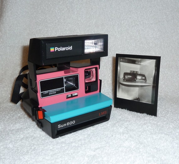 sun 600 polaroid camera upcycled with by upcycledclassics on etsy. Black Bedroom Furniture Sets. Home Design Ideas
