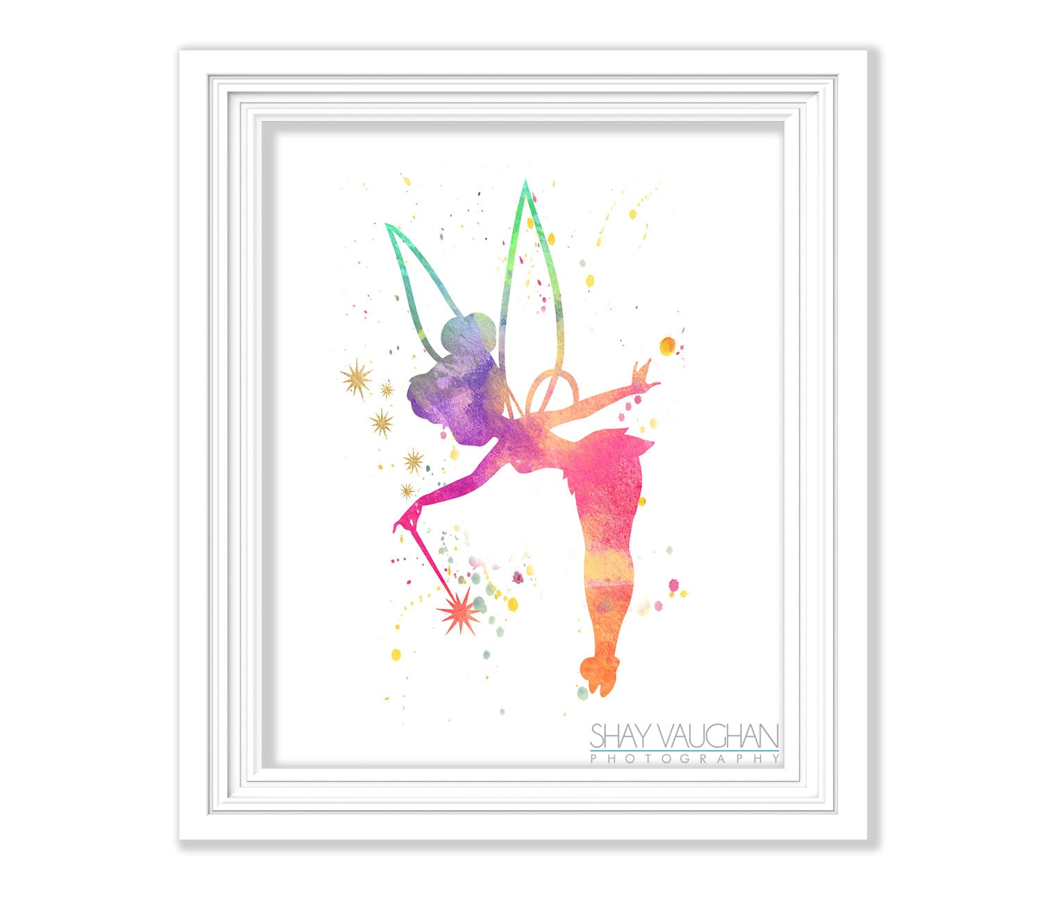 Tinkerbell Art Print Tinkerbell Watercolor Painting Tinkerbell Nursery Art Nursery Decor Wall Art Home Decor Children S