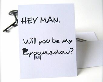 Groomsman card, groomsman proposal card, groomsman invitation best man card, best man proposal, wedding party invitation