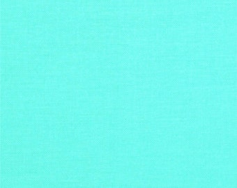 Robert Kaufman Kona Cotton Azure Aqua -1 Yard