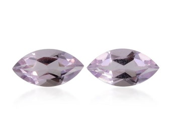 Pink Amethyst Marquise Cut Set of 2 Loose Gemstones 1A Quality 8x4mm TGW 0.85 cts.