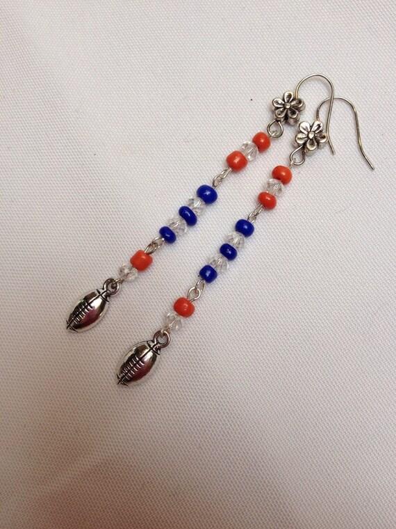 denver bronco jewelry denver bronco handmade beaded orange