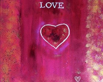 LOVE-Hand painted Original
