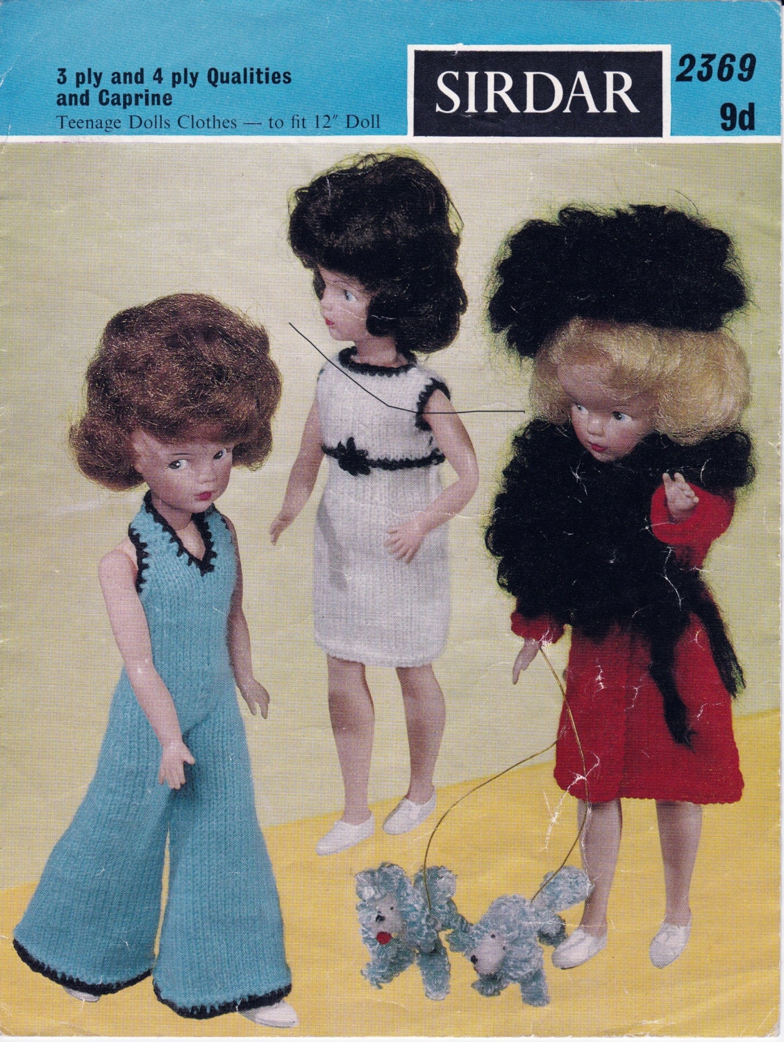 Sirdar Knitting Patterns For Dolls Clothes : Vintage Sirdar 2369 knitting pattern to fit 10