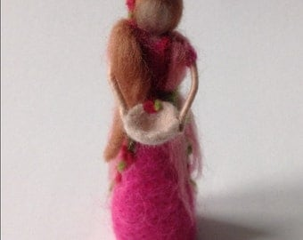 needle felted tooth fairy Waldorf inspired