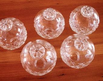 Vintage glass chandelier globes