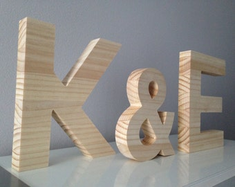 Decorative wooden letters (home decor, valentine's day gift, weeding decoration...)