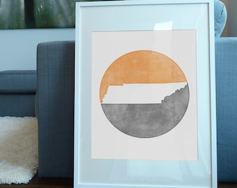 University of Tennessee inspired art print