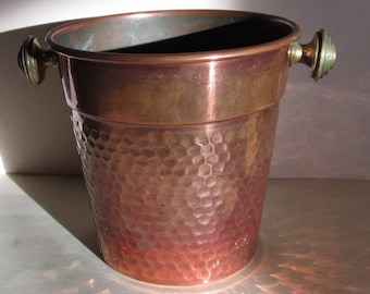 Bucket champagne  art deco copper brass  ice bucket