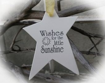 BABY SHOWER-25 Wishing Tree Tags- Baby Shower Wishing Tree- You are My Sunshine Baby Shower, Wishes for Little Sunshine- Ivory Cardstock