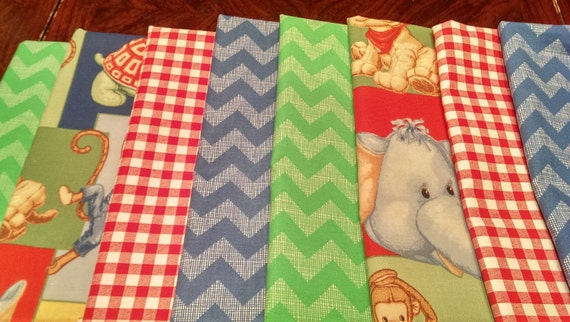 Kids fabric fabric bundle baby fabric novelty chevron for Childrens fabric bundles