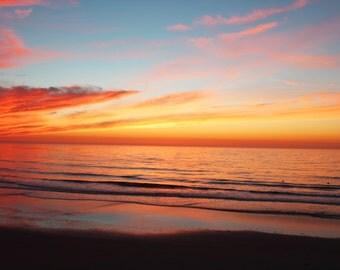 Radiant Nights, Orange, Yellow, Pink, Sunset, South Ponto Beach, Carlsbad, California