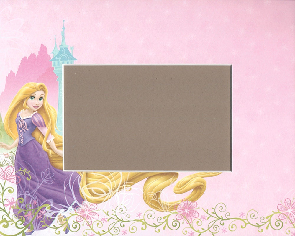 Photo Mat 4x6 Opening For 8x10 Frame Disney Princess