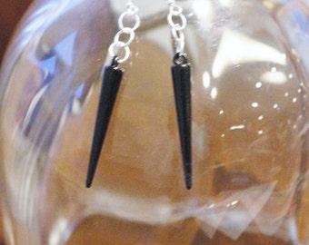 Dark Spiked Earrings